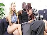 Janet Mason and her Daughter Jessie Rogers fuck a black guy with a huge black cock