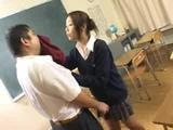 Watch as one oriental eager girl is nailed by that hard cock on the teacher's desk. He continues fucking her nice pussy til his stiff ...