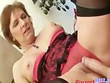 Mature kinky MILF suck cock and get fucked by young guy