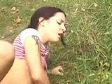 Teen Couple Fucks Outdoor